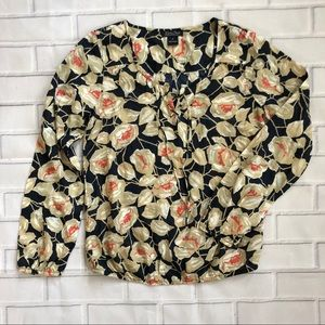 {Lucky Brand} Floral Blouse